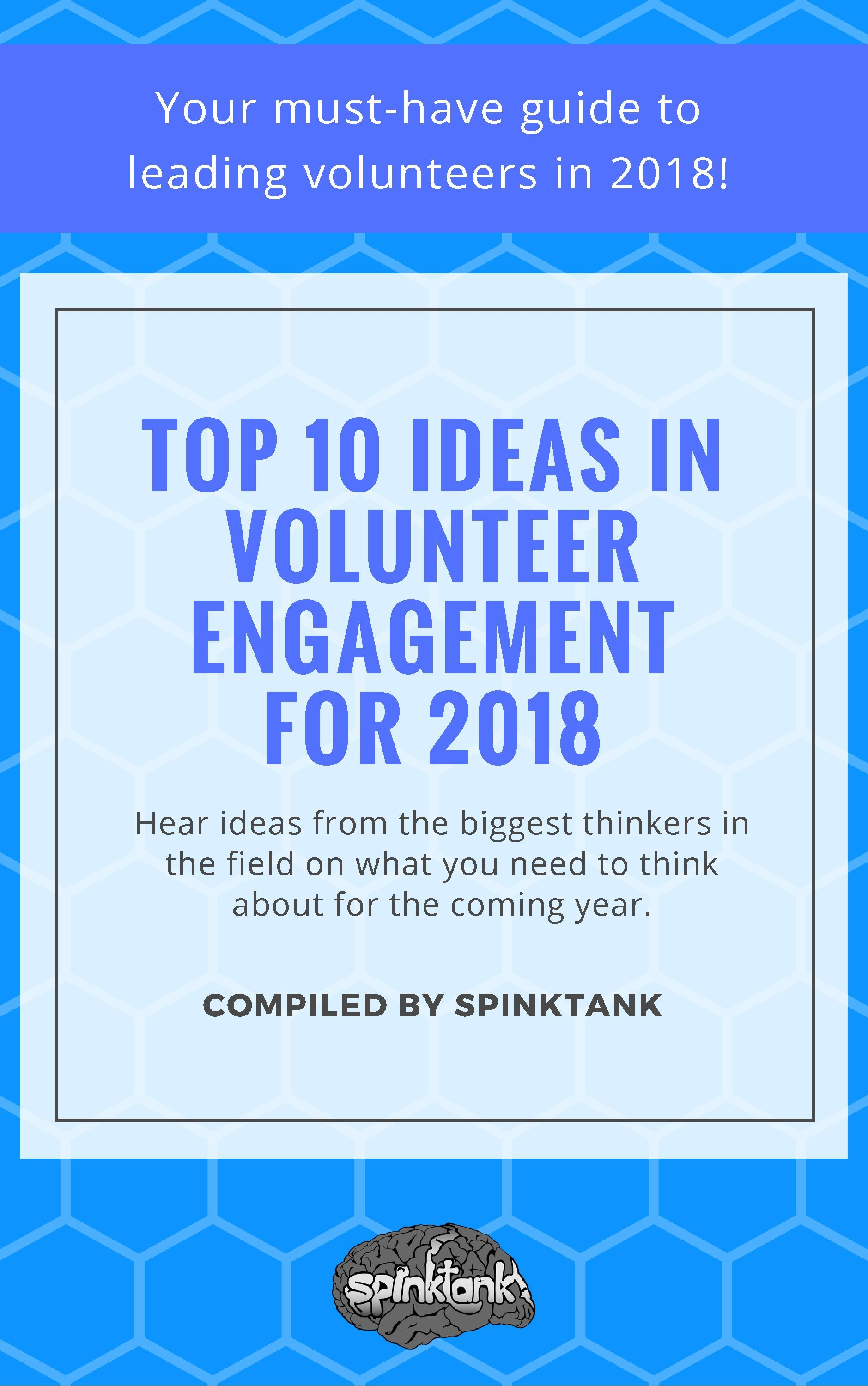 2018 Top 10 Ideas in Volunteer Engagement ebook